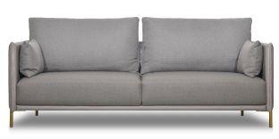 Canapé 2 places en tissu BOSEO - Taupe