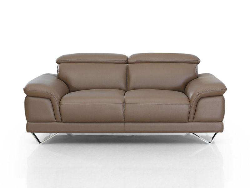 Canapé en cuir 2 places BRAME