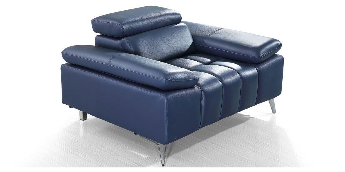 Fauteuil cuir Design LYAM