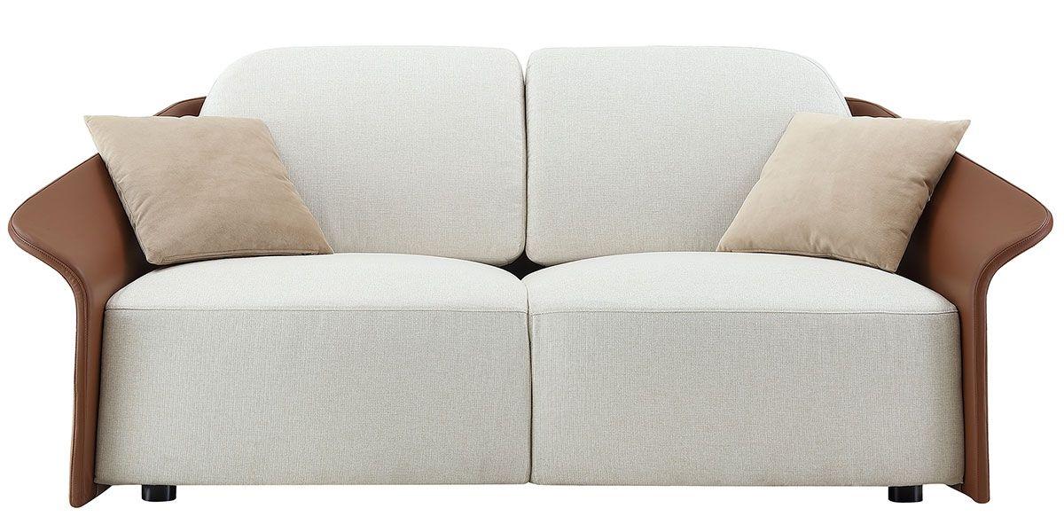 Canapé 2 places en tissu CANCUN - Blanc