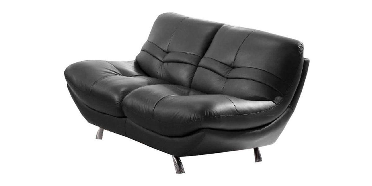 Canapé 2 places en Cuir DIANE - Noir
