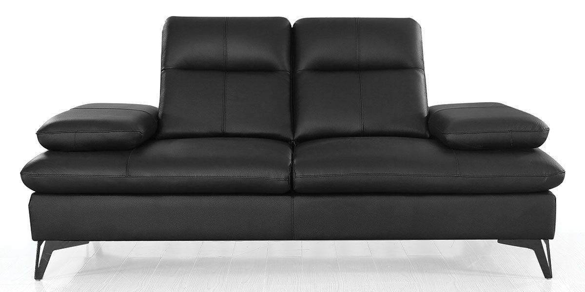 Canapé 2 places Cuir  avec dossier avance-recul IRIS