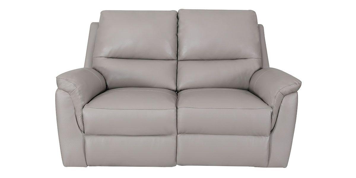 Canapé relaxation électrique 2 places en cuir COCOON - Taupe