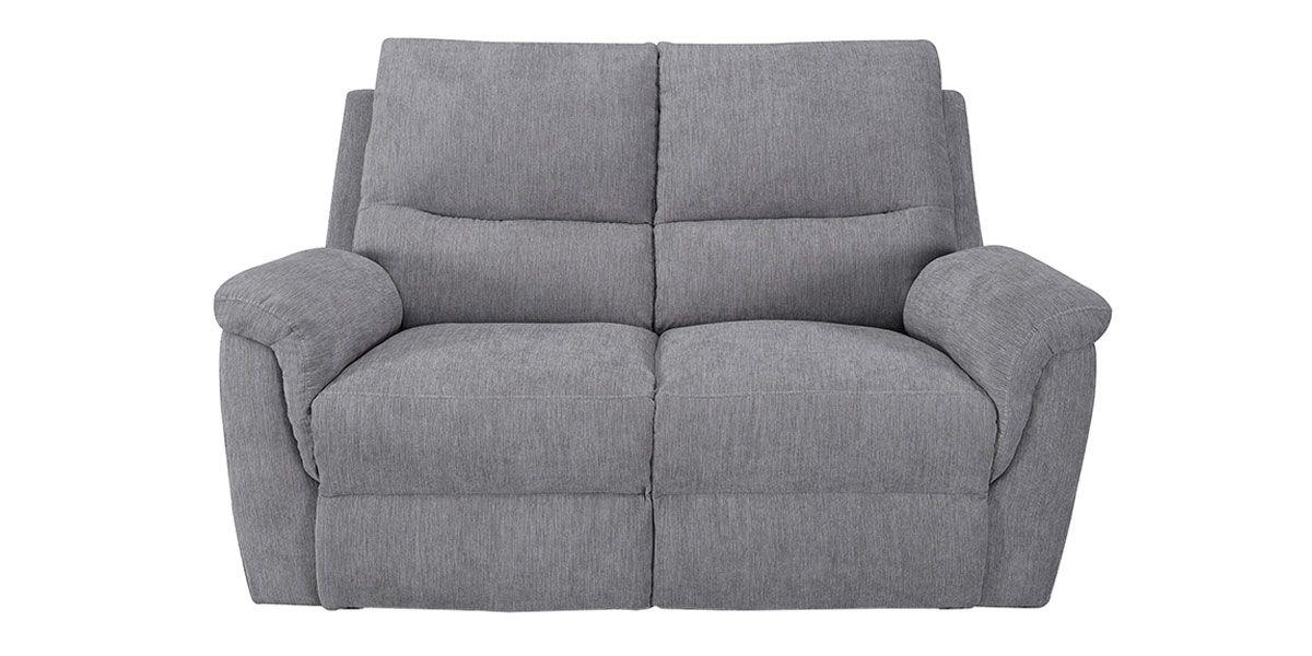 Canapé relaxation électrique 2 places en tissu COCOON - Gris perle