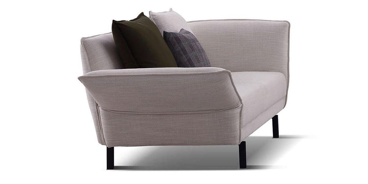 Canapé 2 places en tissu JULIA