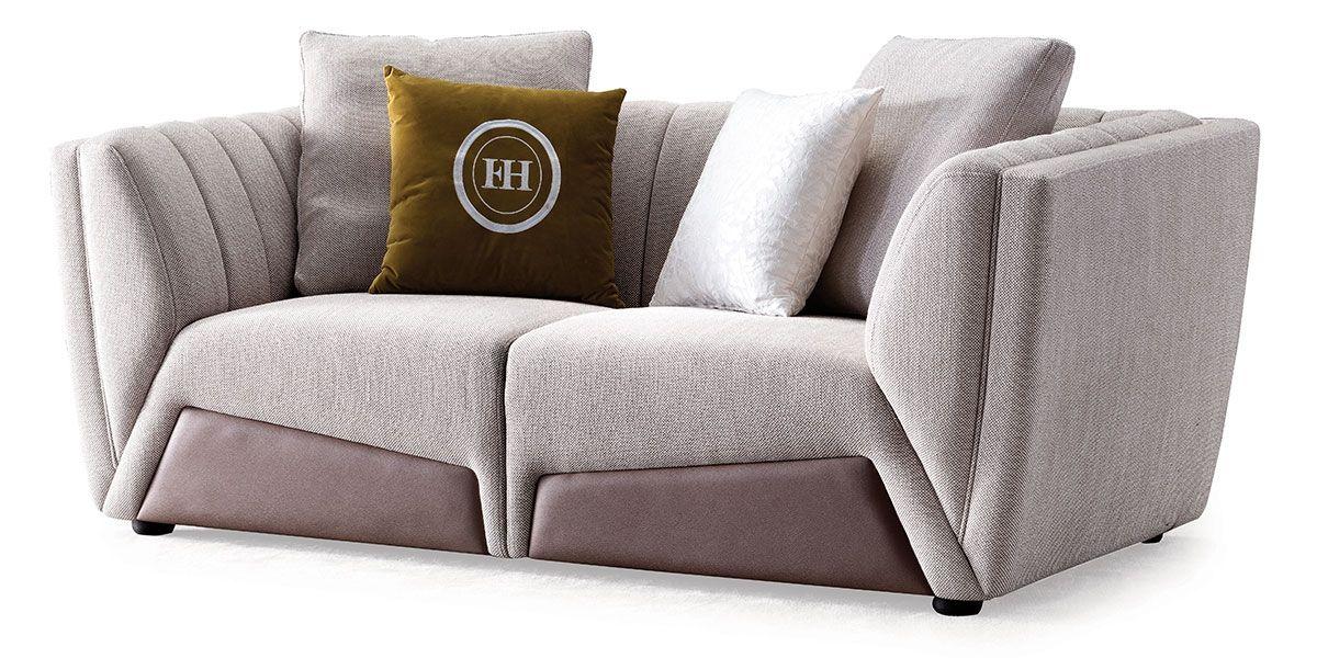 Canapé 2 places en tissu OSCAR- Beige