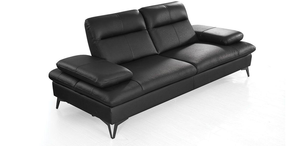 Canapé 3 places Cuir avec dossier avance-recul IRIS