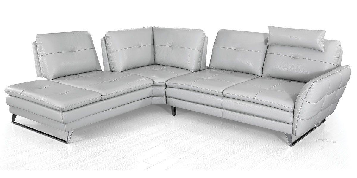 Canapé d'angle gauche en cuir ELENA