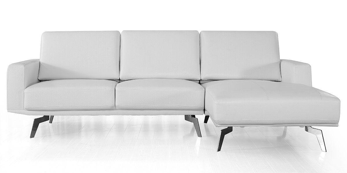 Canapé d'angle en cuir ARYA