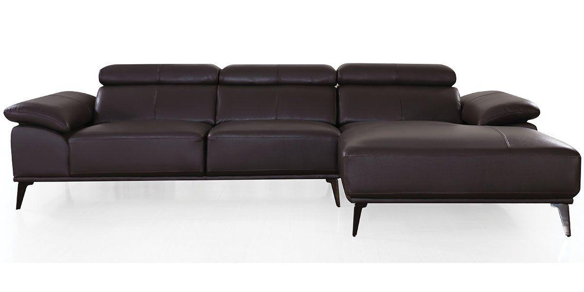 Canapé d'angle en cuir VICTOIRE