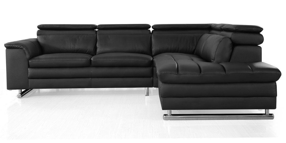 Canapé d'angle gauche en cuir MYA