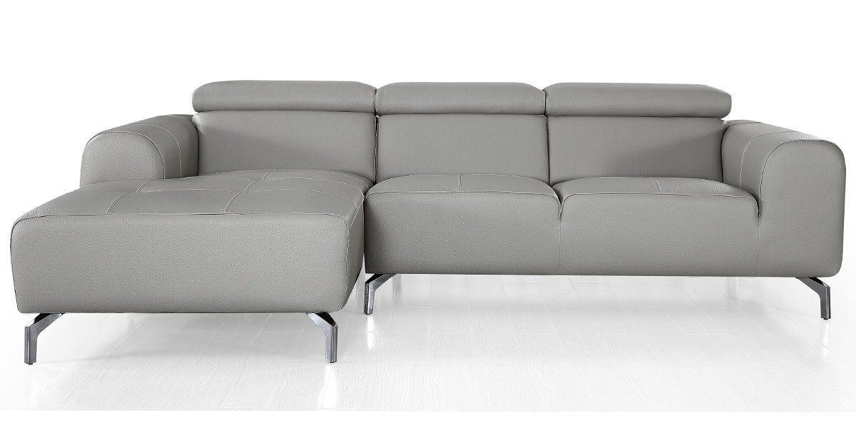 Canapé d'angle droit en cuir ZAKARIA