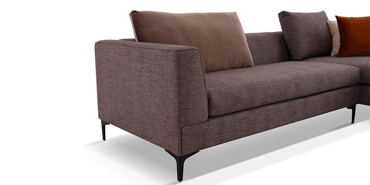 Canapé d'angle en tissu JULY