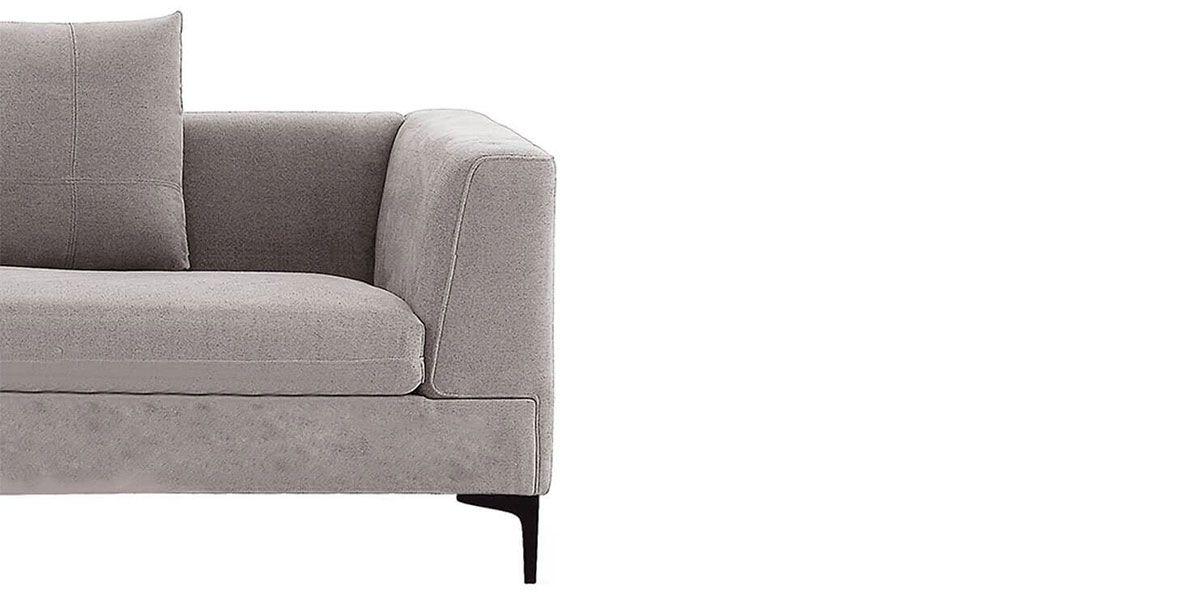 Canapé d'angle XL en tissu JULY