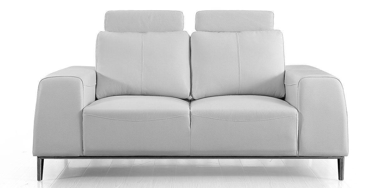 Canapé 2 places en cuir avec dossier avance-recul  LOOLAK