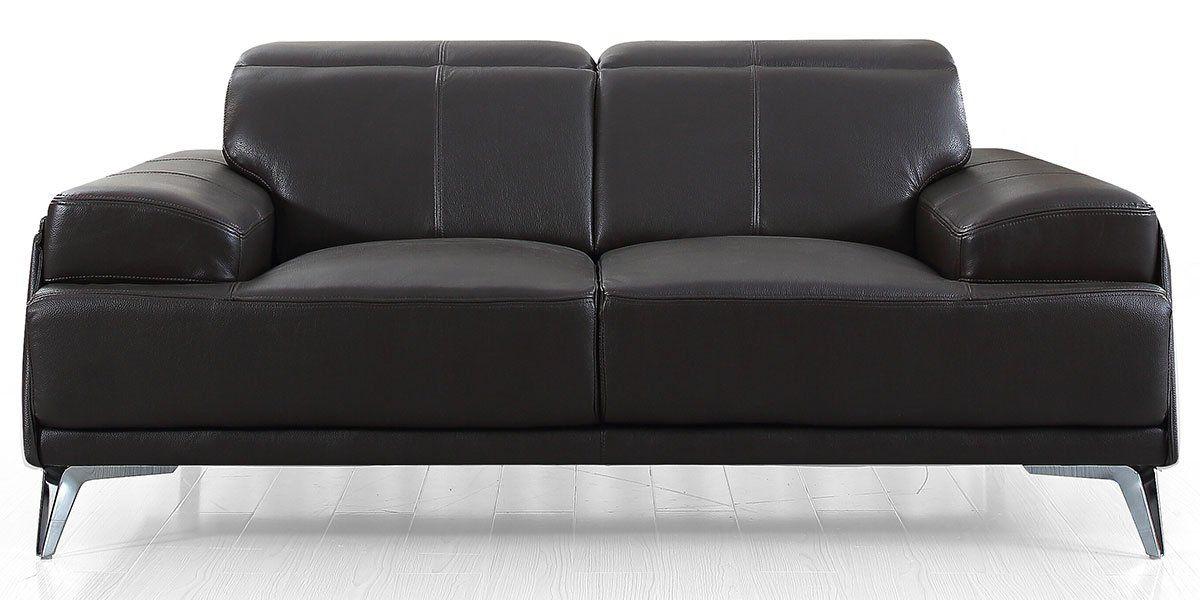 Canapé 2 places en cuir GARLIK