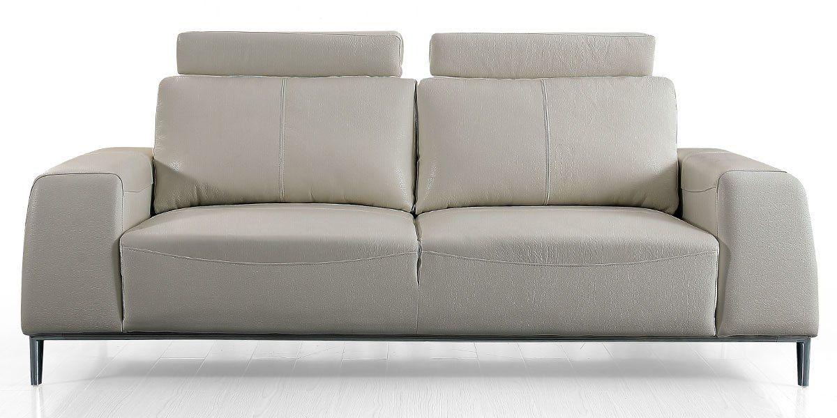 Canapé 3 places en cuir avec dossier avance-recul  LOOLAK