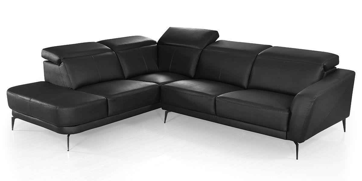 Canapé d'angle en cuir EVAN