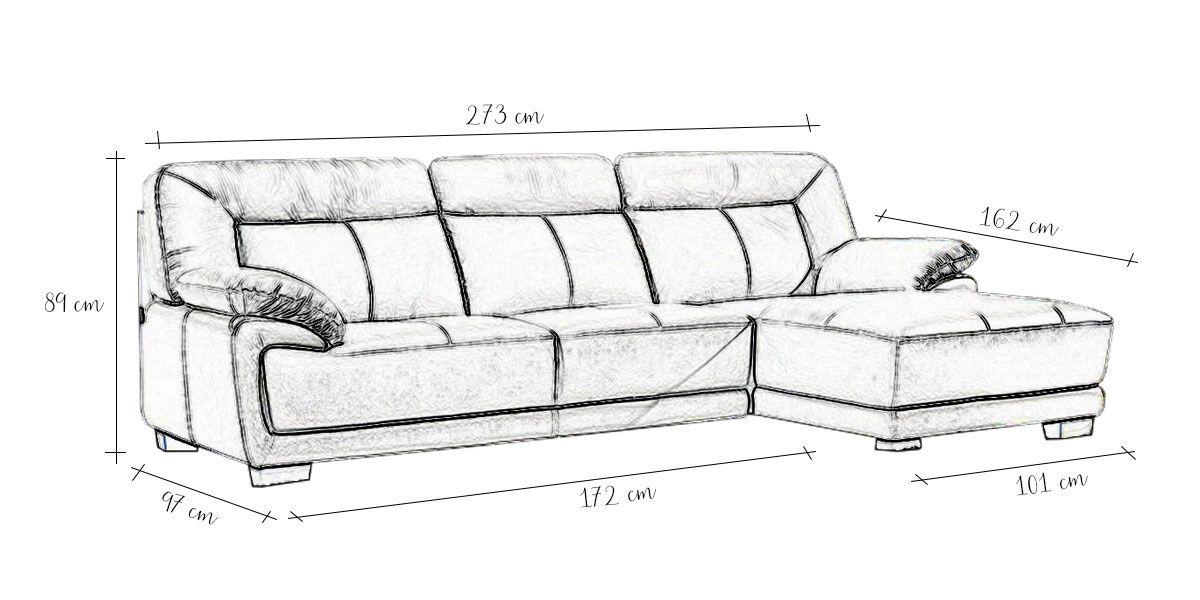 Canapé Cuir Angle ANDY