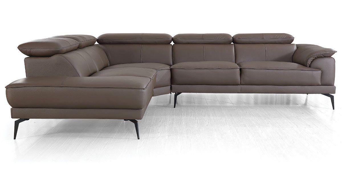 Canapé d'angle en cuir ELEA