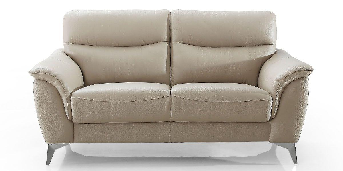Canapé 2 places en cuir MADRID - Beige