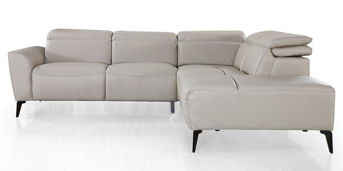 Canapé d'angle en cuir ZOE