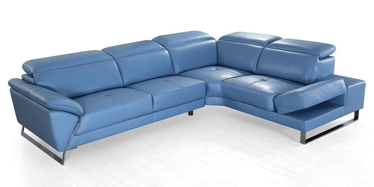 Canapé d'angle en cuir RAPHAEL