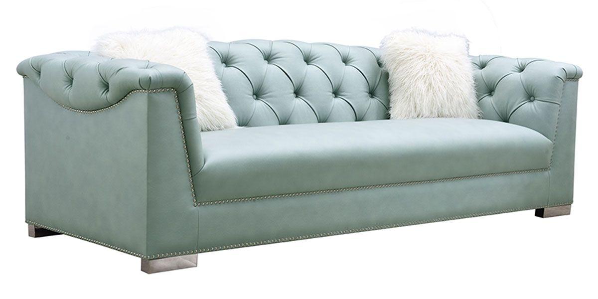 Canapé 3 places en simili cuir SAX - Vert