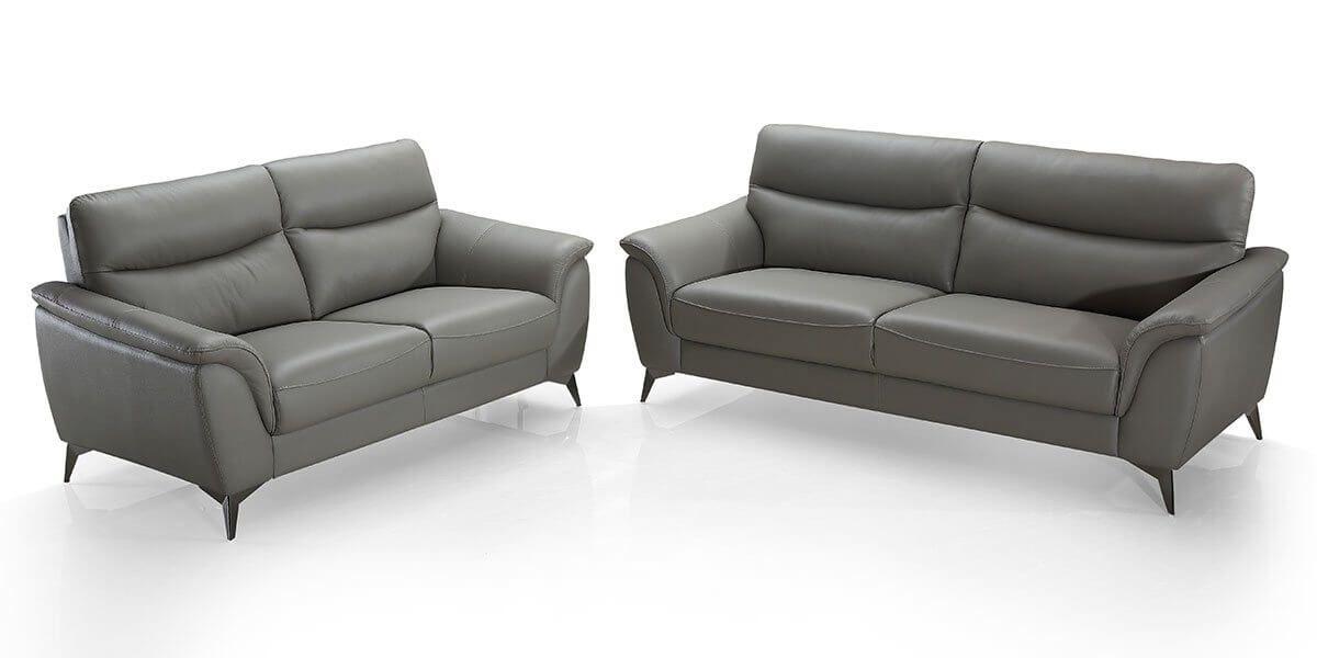 Canapé 2 places en cuir MADRID