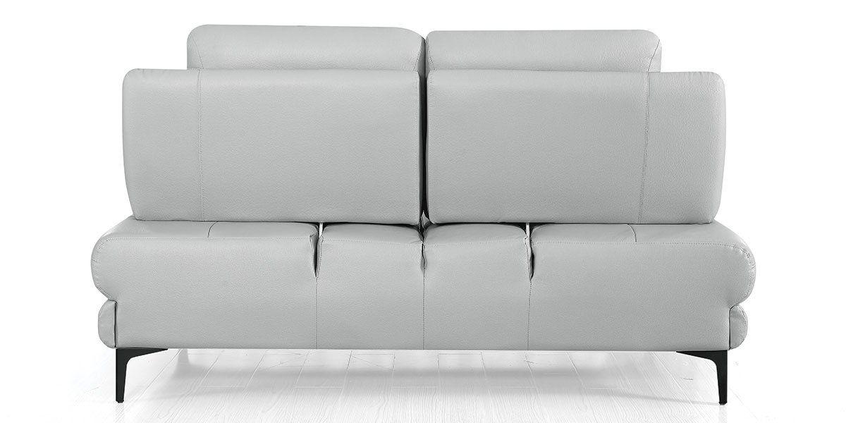 Canapé 2 places Cuir avec dossier avance-recul LYA