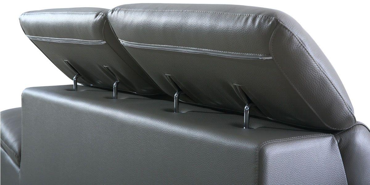 Canapé en cuir 3 places LEA