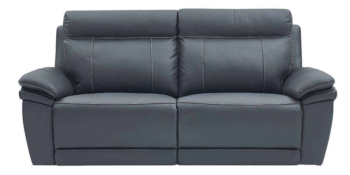 Canapé relaxation électrique 3 places en cuir DALIA - Noir