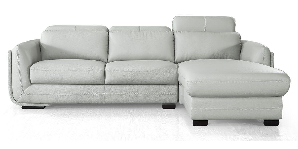 Canapé d'angle gauche en cuir KENZO