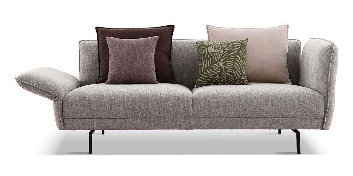 Canapé 3 places en tissu JULIA - Gris chiné