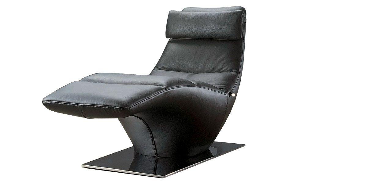 Chaise longue Cuir DINA - Noir