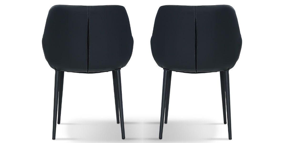 Chaise Design KLOE - Gris - Lot de 2