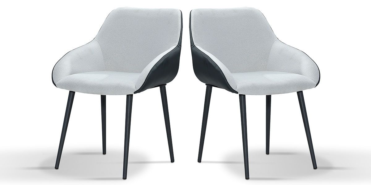 Chaise Design KLOE - Gris - Lot de 2