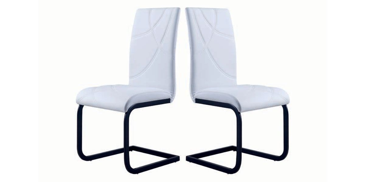 Lot de 2 chaises LONDON