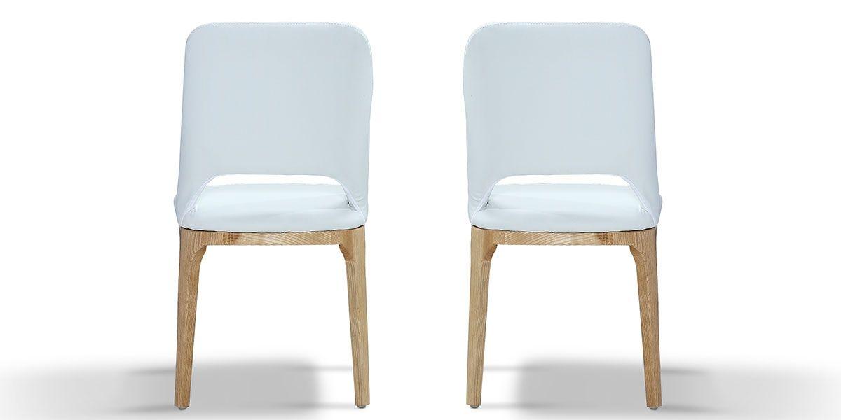 Chaise Design MANDY - Blanc - Lot de 2