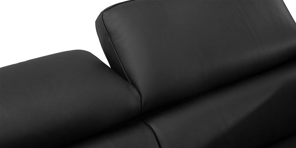 Canapé d'angle en cuir HILONA