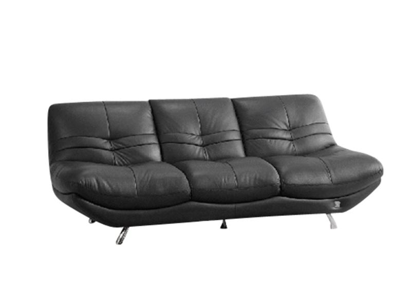 Canapé 3 places en Cuir DIANE - Noir