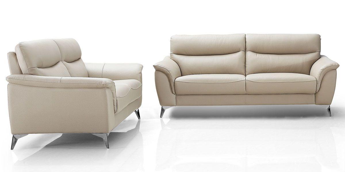 Canapé 3 places en cuir MADRID - Beige