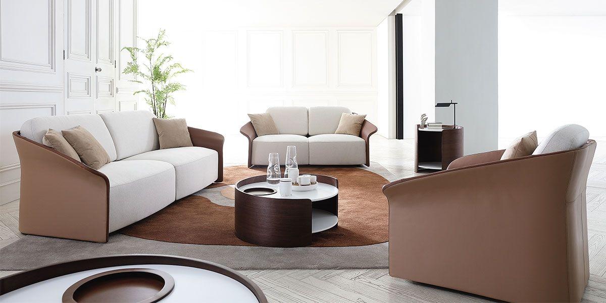 Canapé 3 places en tissu CANCUN- Blanc