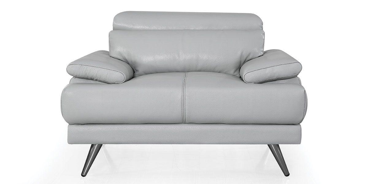 Fauteuil cuir Design LENA