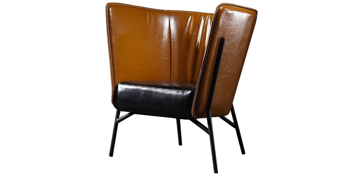 Fauteuil Design MANAR - Marron/Noir