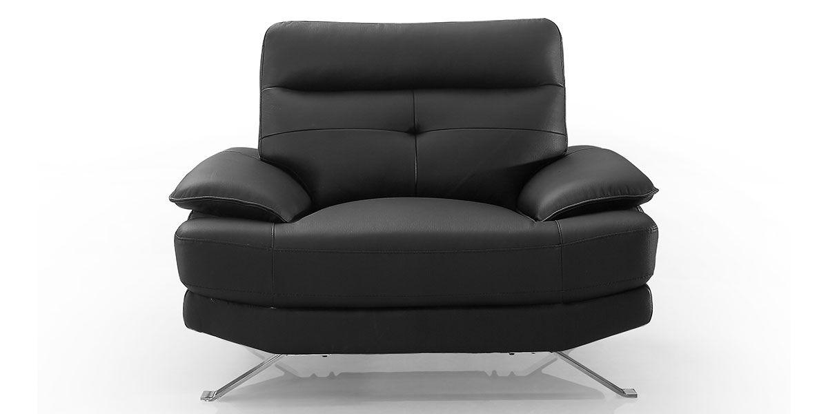 Fauteuil Design en cuir SYDNEY - Noir