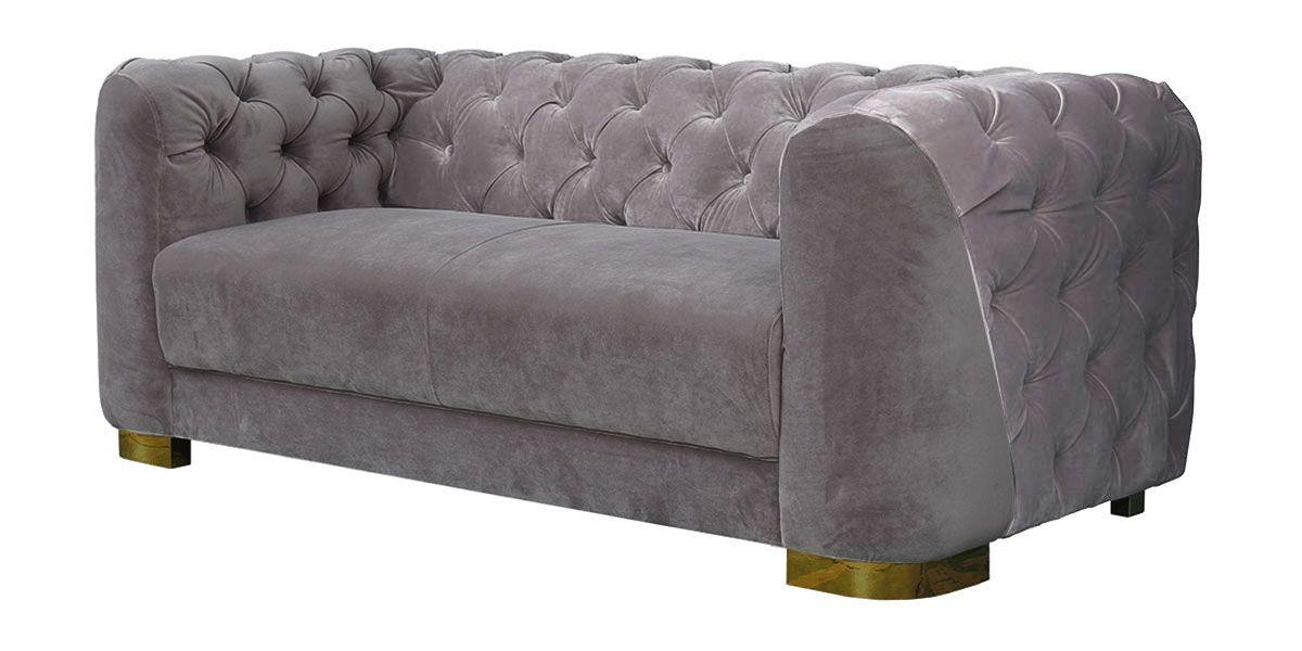 Canapé 3 places en velours KITSCH - Gris