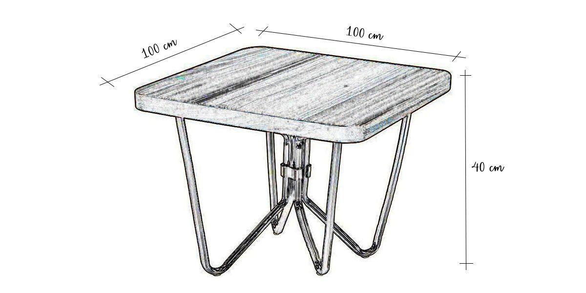 Table basse bois LILO - Noyer