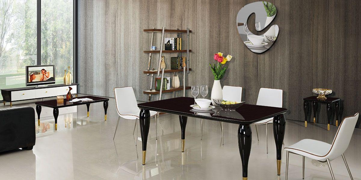 Miroir Design laqué UTOPIA - Blanc