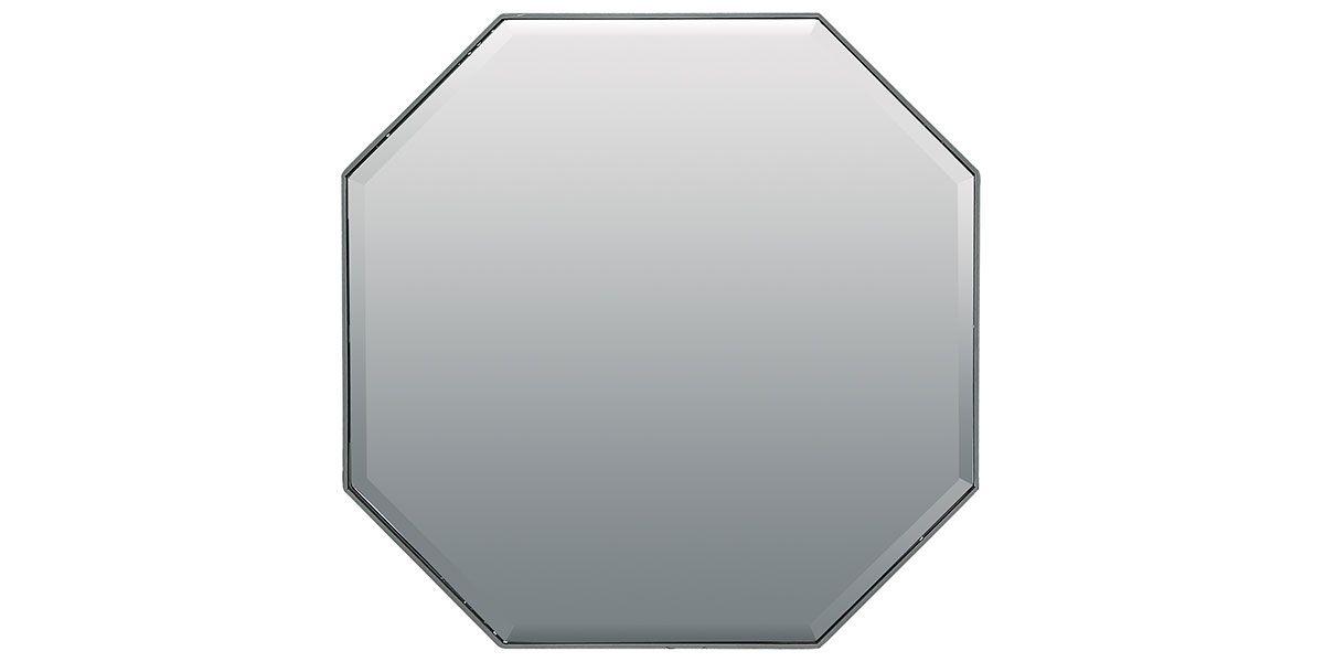 Miroir géométrique laqué NOOR - Gris